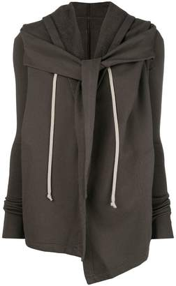Rick Owens open front hooded cardigan