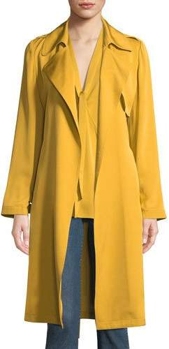 Silk Belted Trench Coat