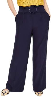 Boden Carrick Belted Wide Leg Trousers