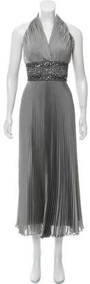 Carmen Marc Valvo Halter Evening Dress