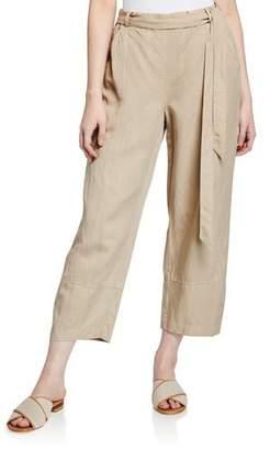 Eileen Fisher Plus Size Tencel® Linen Tie-Waist Lantern Pants