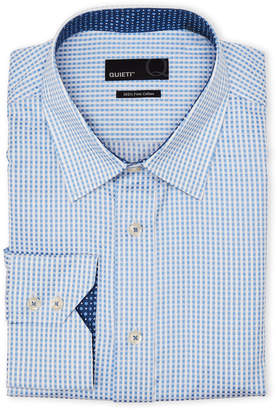 Quieti Apparel Blue Gingham Dress Shirt