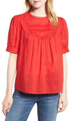 Hinge Lace Trim Cotton Top