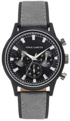 Vince Camuto Men's Faux Leather Strap Watch, 43mm