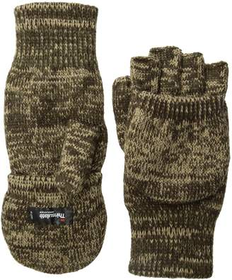 Quietwear Men's Knit Flip Gloves with 40 GR Thinsulate