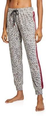 PJ Salvage Wild Heart Leopard-Print Jogger Pants