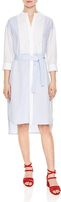 Sandro Touareg Belted Shirt Dress $325 thestylecure.com