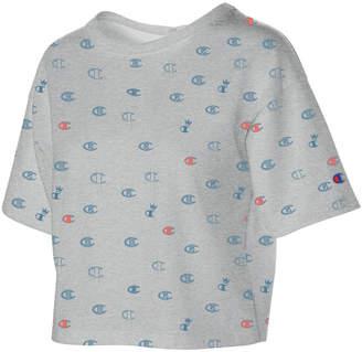 Champion (チャンピオン) - Champion Cotton Logo-Print Cropped T-Shirt