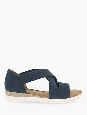 492e3390827 at John Lewis and Partners · Gabor Promise Wide Fit Cross Strap Sandals