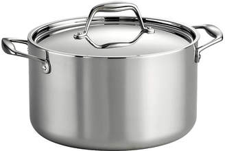Tramontina Gourmet 8-qt. Tri-Ply Clad 18/10 Stainless Steel Induction-Ready Stock Pot with Lid
