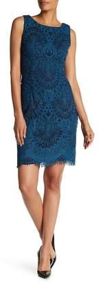 Chetta B Sleeveless Crochet Lace Dress
