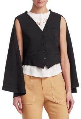 Chloé Tailored Wool Waistcoat& Cape
