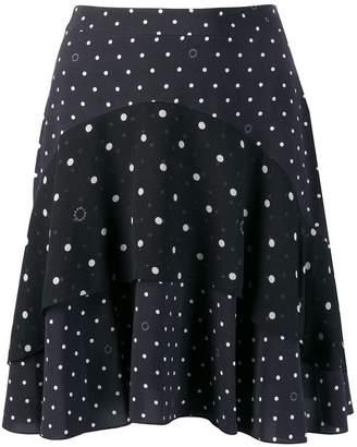 Karl Lagerfeld Paris dotted ruffle mini skirt