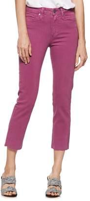Paige Hoxton Raw Hem Crop Straight Leg Jeans