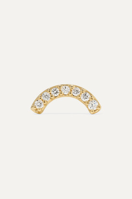 Andrea Fohrman Single Row Rainbow 14-karat Gold Diamond Earring