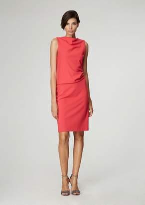 Giorgio Armani Milano-Knit Jersey Dress With Side Pleats