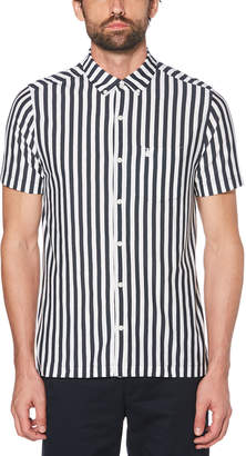 Original Penguin KNIT VERTICAL STRIPE SHIRT