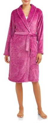 Gloria Vanderbilt Women's and Women's Plus Fleece Robe