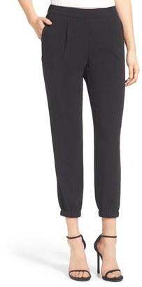 Women's Trouve Stretch Crepe Jogger Pants $79 thestylecure.com