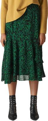 Whistles Jungle Cat Ruffle Skirt