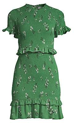 LIKELY Women's Faye Smocked Floral Mini Dress