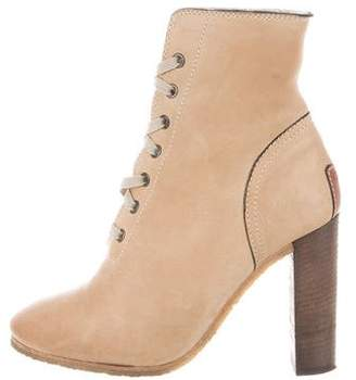 Chloé Leather Lace-Up Booties