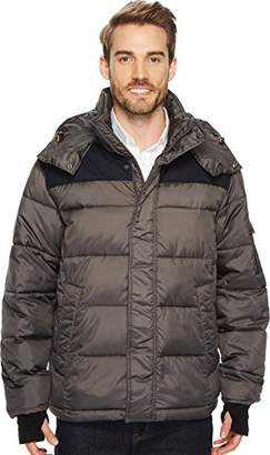 Izod Men's Insulated Puffer Jacket with Removable Hood