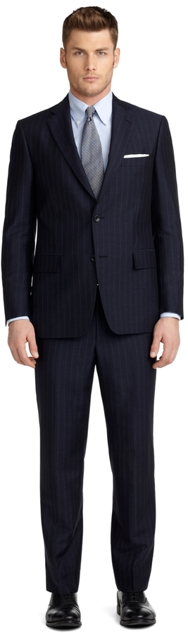 Brooks Brothers Regent Fit Tonal and Micro Bead Stripe 1818 Suit