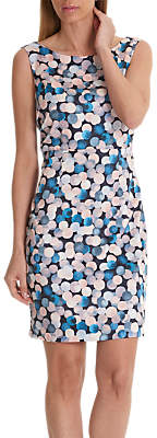 Betty Barclay Globe Print Dress, Blue/Rosé