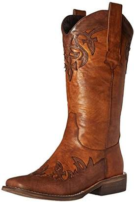 "AdTec Women's 13"" Western Pull On Inlay Accents -W Boot"