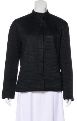 Giorgio Armani Fur-Lined Stand Collar Jacket
