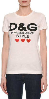 Dolce & Gabbana Style Short-Sleeve Crewneck T-Shirt