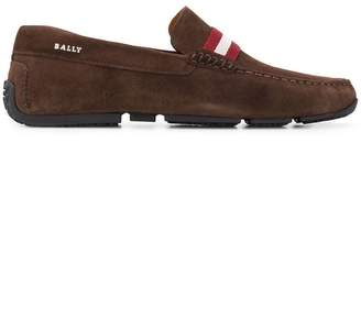 Bally contrast stripe loafers