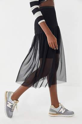 Urban Renewal Vintage Remnants Mesh Midi Skirt