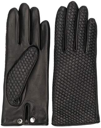 Agnelle woven detailed gloves