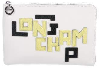 Longchamp Logo Leather Clutch