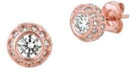 Morris & David 14K Rose Gold Diamond Stud Earrings - 1TCW