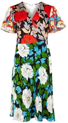 Diane von Furstenberg Floral-print Silk And Jersey Wrap Dress