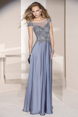 Alyce Paris Mother of the Bride - 29651 Dress in Slate Blue $338 thestylecure.com
