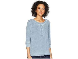 True Grit Dylan by Bowery Burnouts 3/4 Sleeve Button Henley Tee