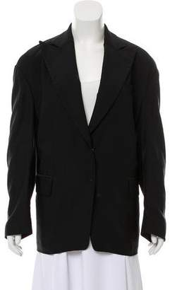 Dries Van Noten Linen Blend Peak-Lapel Blazer