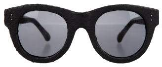 Linda Farrow Snakeskin Tinted Sunglasses