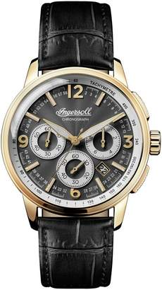 Ingersoll WATCHES Regent Chronograph Leather Strap Watch, 47mm