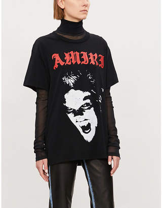 Amiri Lost Boys-prints cotton-jersey T-shirt