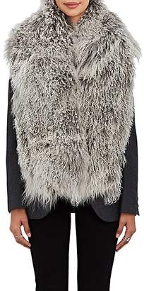 Barneys New York Women's Mongolian Fur Scarf - Gray