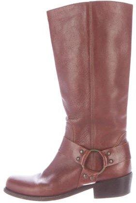 Michael Kors Leather Stirrup Boots