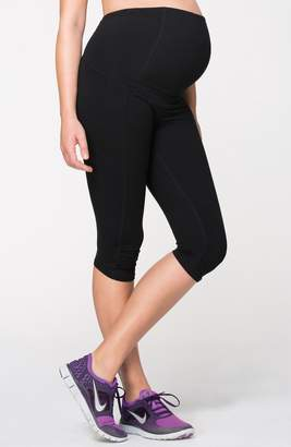 Ingrid & Isabel R) Knee Length Active Maternity Pants with Crossover Panel