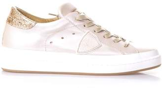 Philippe Model Opera Nude Leather Sneakers