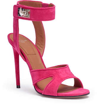 Givenchy Fucshia suede sandals shark lock sandals