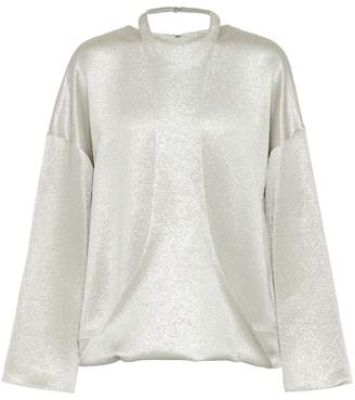 Valentino Hammered lamé top